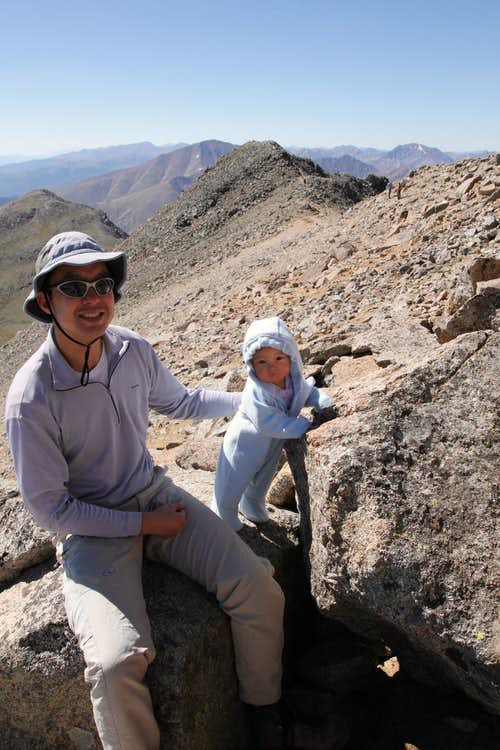 Scott & Esme on Mt Massive