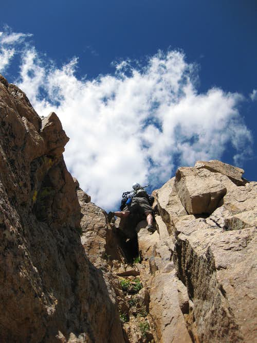 Scrambling to Hagar's Summit