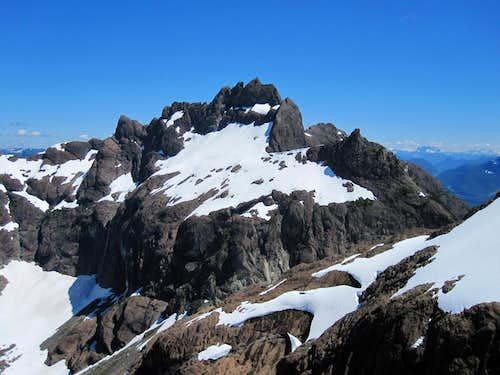 Mt Bate from the Little Alava/Alava Col