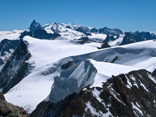 Panorama from Mont Blanc de Cheilon …