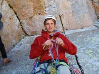 Danny After Climbing the 3rd Pitch