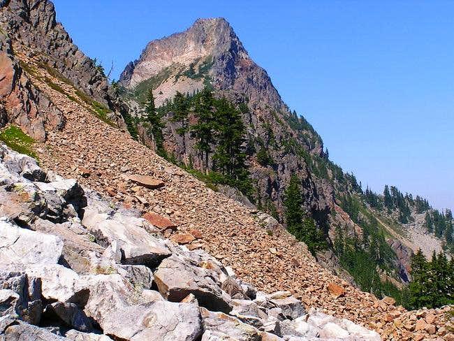 First view of Kaleetan Peak...