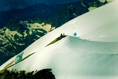 Airial of Baker summit