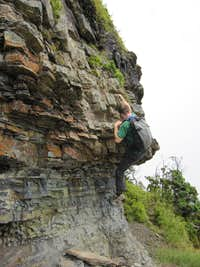 Crux on Normal Route