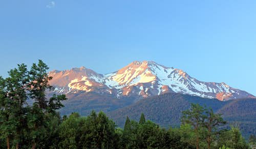 Sunset on Mt. Shasta