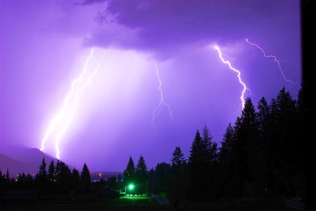 Lightning over Lake Pend Oreille, Idaho