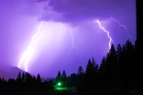 Lightning over Lake Pend Oreille, Idaho