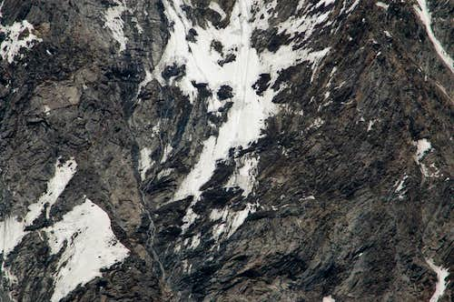 Täschhorn south face detail (1)