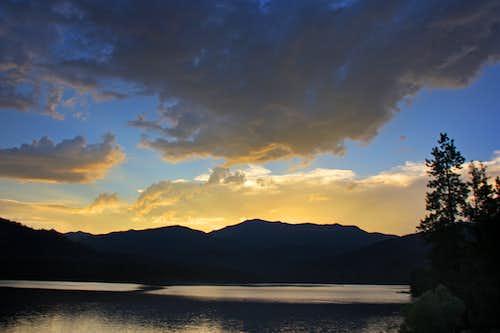 Mt. Eddy at dusk from Lake Siskiyou
