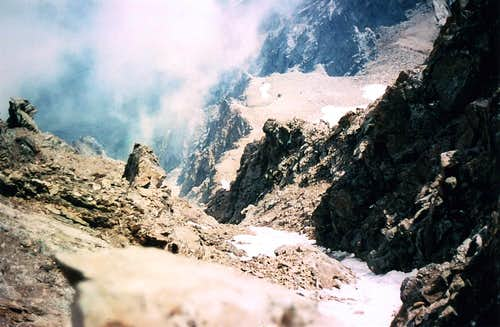 AOSTA's VALLEY in SUMMITS Mount VELAN S-SE FACE Western Great Couloir