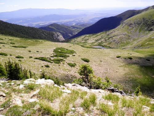 Looking down the Medano valley