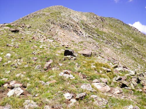 """Medano Peak"" summit from south"