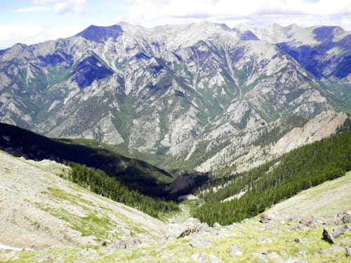 "Northward from summit of ""Medano Peak"""