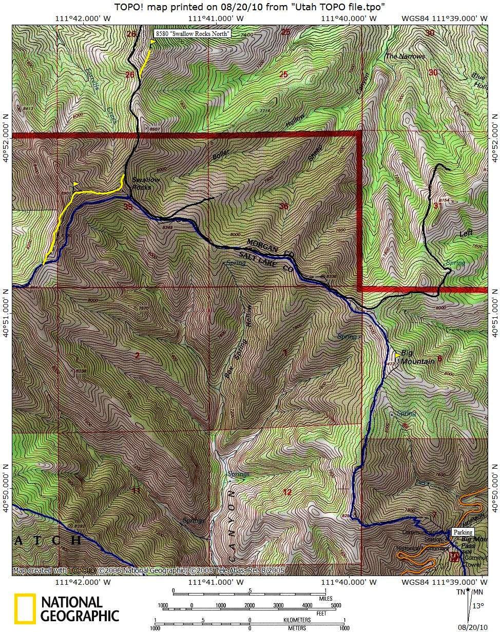Swallow Rocks Map