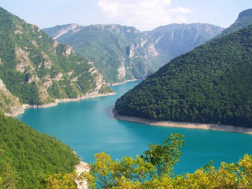 The Piva Canyon with its water-reservoire