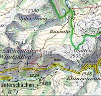Swissgeo topo with route to...