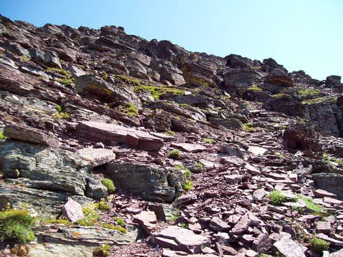 Cliffs below the summit