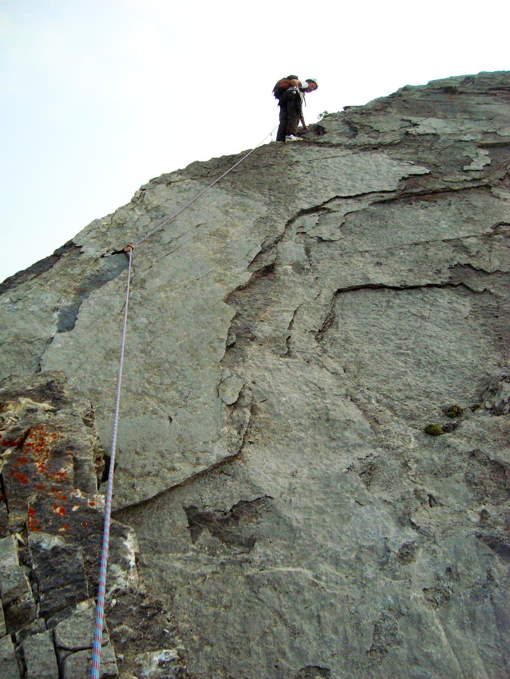 Me on the first difficult slab