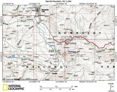 Merritt Mountain access route (1/4)