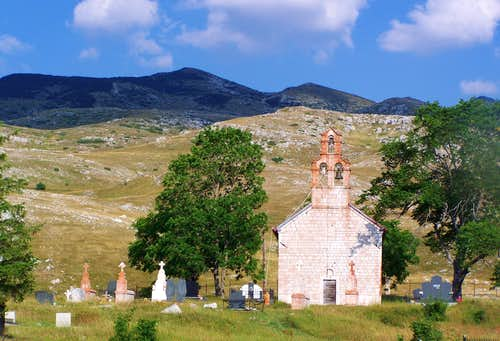 Old church on the western slopes of Durmitor