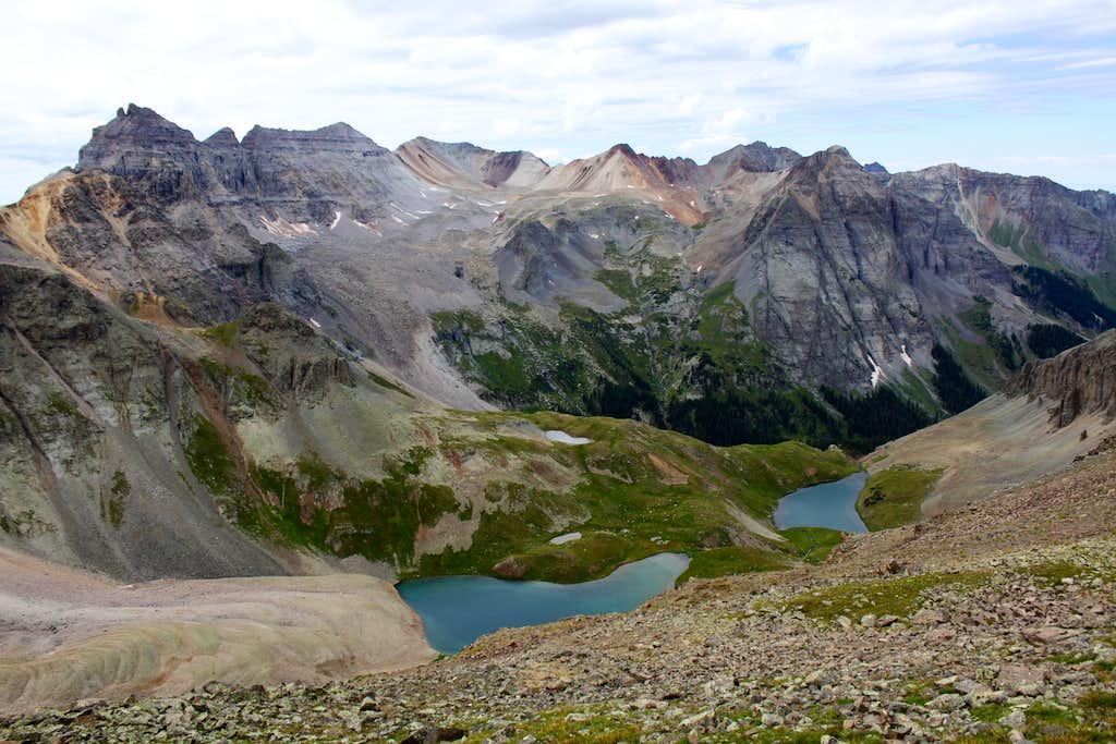 Blue Lakes as seen