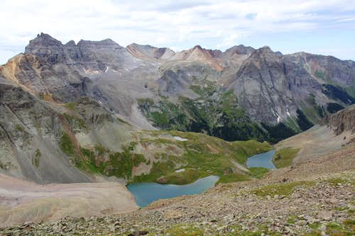 Blue Lakes as seen
