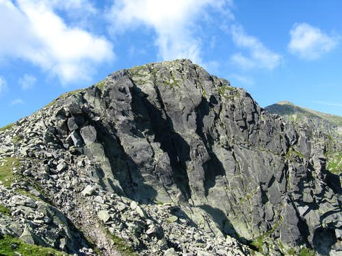 rocky wall of Gruiul peak (2345m)