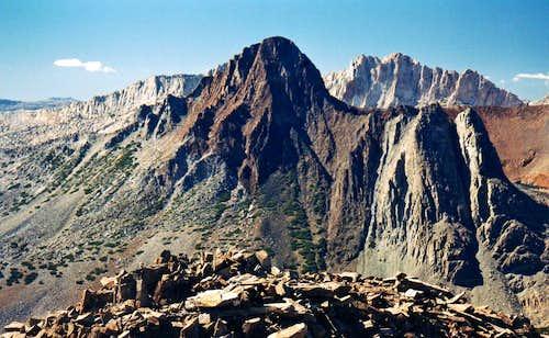 Virginia Peak  and Whorl Mtn. from Camiaca Peak