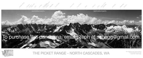 Picket Range Labeled Panorama (Version 2)