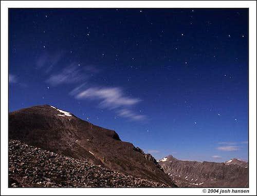 Quandary Peak under a full...