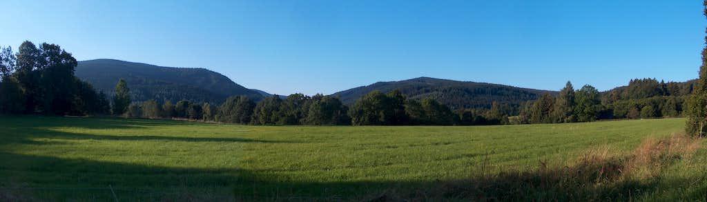 Panorama on the Rejvíz plateau