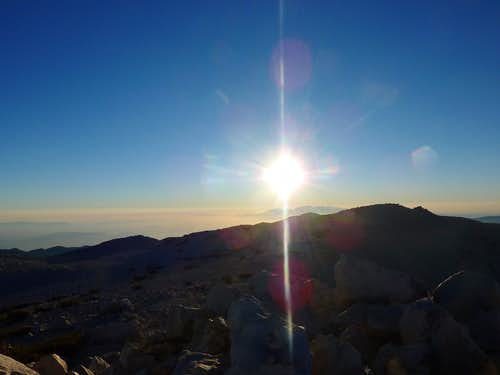 Sunset on San Gorgonio