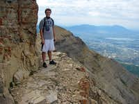 Chris below Timp summit