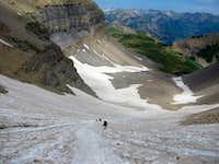 Timpanogos snowfield