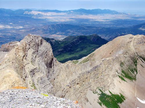 Looking down at Timp ridge trail
