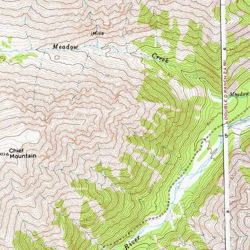 Meadow Creek to Chief Mountain