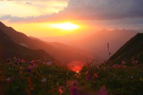 Layla Base Camp sunset