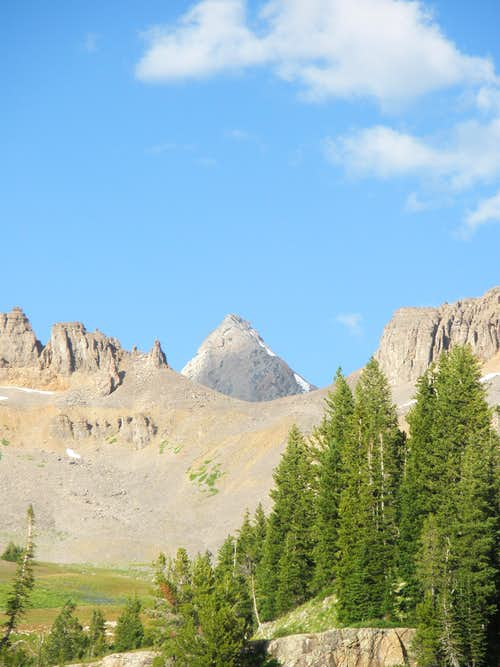 The Grand Teton from Sunset Lake