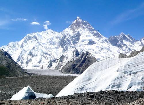 Masherbrum as seen from Baltoro Glacier