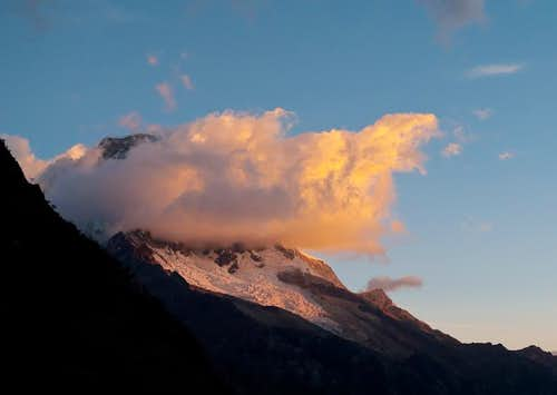 Huascaran at Sunset