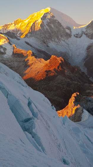 Huascaran Sur at Sunrise