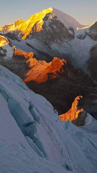 Huascaran Sur at Sunrise