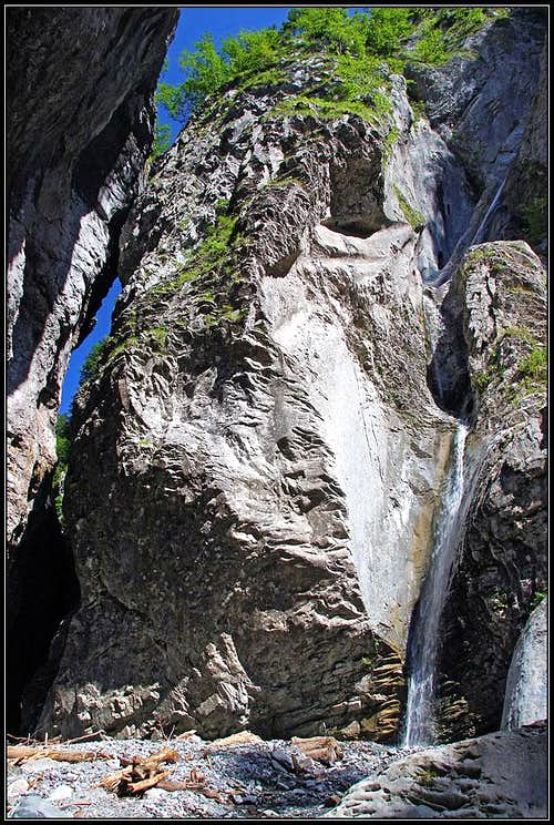 The side waterfall in Mauthner Klamm