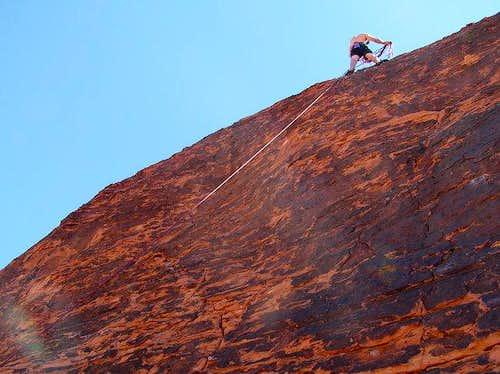 23 Jul 2004 - Climbing on the...