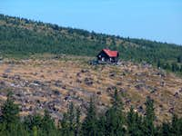 The lone forestry house on the dome of Orlik