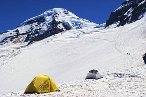 High Camp on Mt Baker