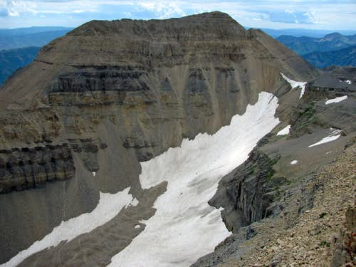 South Timp above snowfield