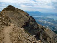 Timpanogos above Utah Valley