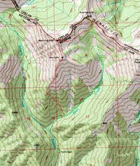 Judis, Marys And Bean Peaks Loop Route