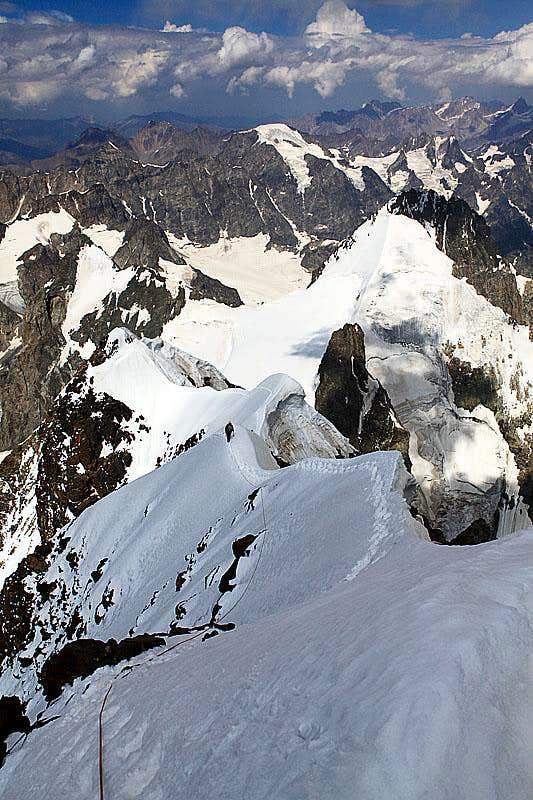 Ushba summit ridge